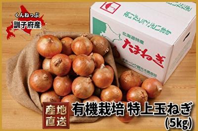 訓子府産 有機栽培特上玉ねぎ 約5kg