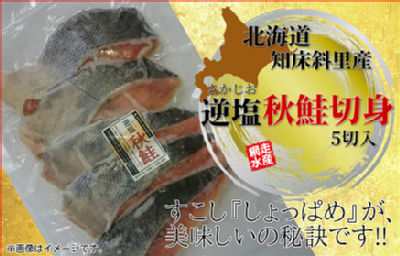 北海道知床斜里産 逆塩秋鮭切身 5切入