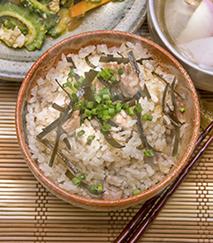 竹の子と昆布の炊き込みご飯