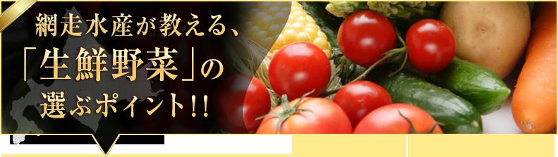 「生鮮野菜」の選ぶポイント!!