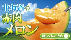 北海道の赤肉メロン